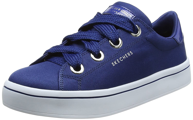 Skechers Damen Hi Lite-Satin Stoppers Sneaker  35 EU|Blau (Navy)