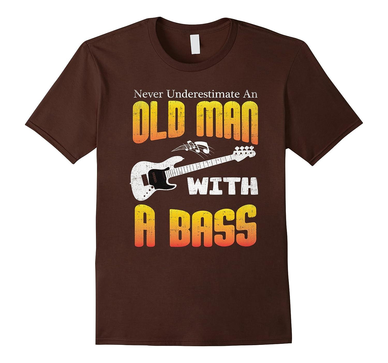 Mens Never Underestimate Bass T shirt-Awarplus