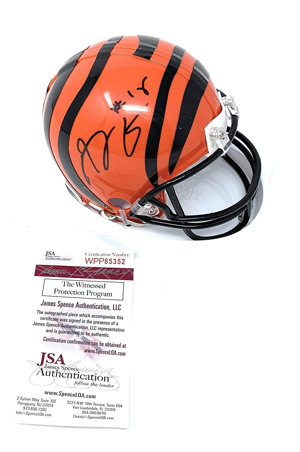 Amazon.com  AJ Green Cincinnati Bengals Signed Autograph Mini Helmet JSA  Witnessed Certified  Sports Collectibles ef89e4892