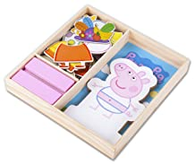 Magnetic Wood Dress Up Puzzle