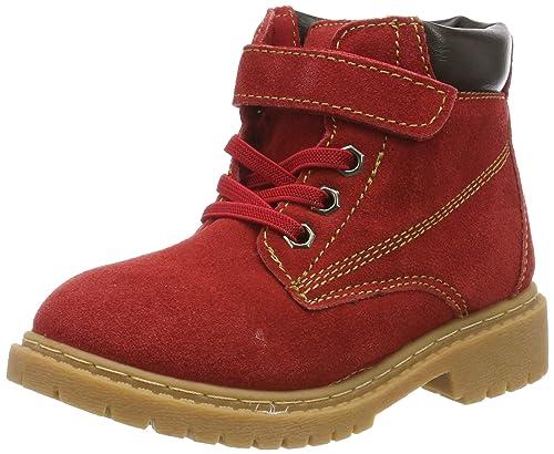 f38b9219dea013 Kinder Winterschuhe Jungen Mädchen Winterstiefel Winter Warm gefütterte  Leder Stiefel Martin Boots Schuhe Rot 23.5 EU