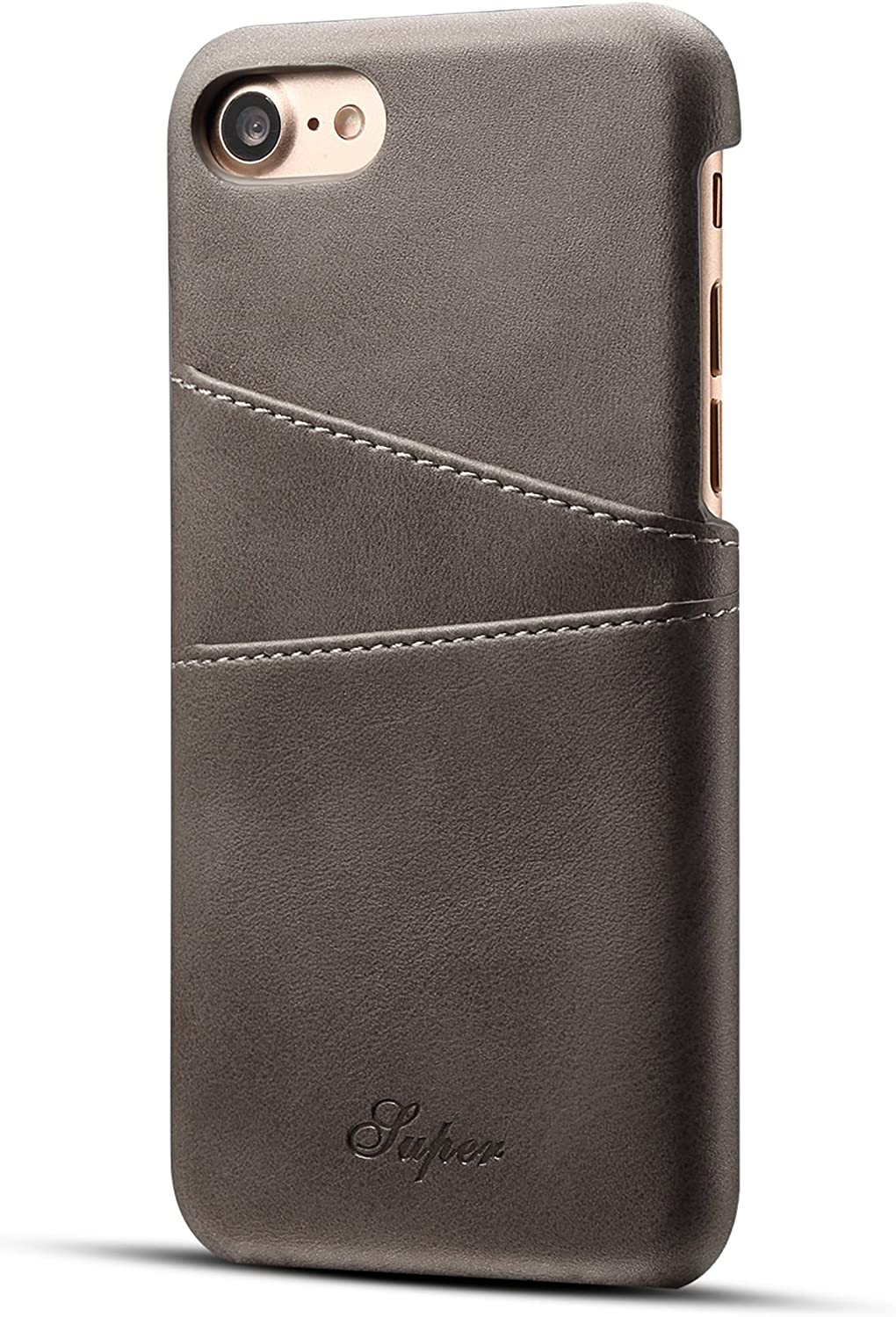 Wallet Case iPhone 7/8 / iPhone SE 2020 with Credit Card Holder, Synthetic Leather Slim Back Cover Protective Case