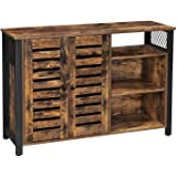 VASAGLE Storage Cabinet, Kitchen Cabinet and Sideboard with Adjustable Shelves and Louvered Doors, for Dining Room, Living Ro