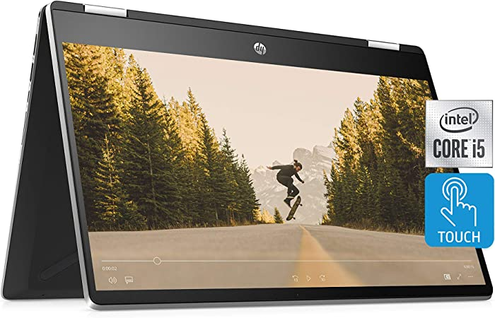 "HP Pavilion x360 14 2-in-1 Laptop, 10th Generation Intel Core i5-10210U Processor, 8 GB Ram, 512 GB SSD Storage, 14"" Full HD Touch Screen, Windows 10 Home, Backlit Keyboard (14-dh1021nr, 2020)"