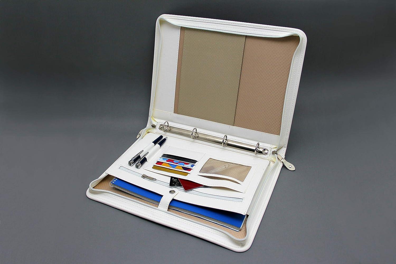 Cartellina portadocumenti A4 in pelle per conferenze Pu Business raccoglitore ad anelli Marrone