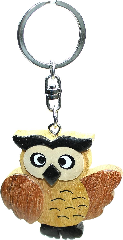Schlüsselanhänger Eule Aus Holz Schlüssel Anhänger Küche Haushalt