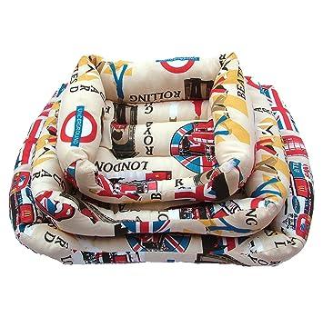YOMMY® Cama Colchoneta para Perros Gatos Mascotas Material Alta Calidad Colores se envían al azar Tamaño S/M/L YM-1295 (M): Amazon.es: Deportes y aire libre
