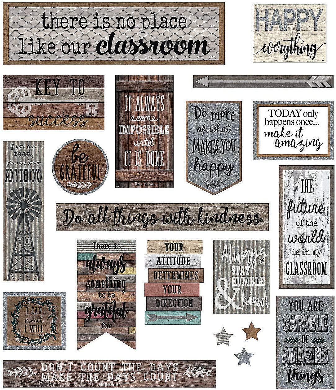 Fun Express Home Sweet Classroom Mini Bulletin Board Set - Educational - Classroom Decorations - Bulletin Board Decor - 20 Pieces