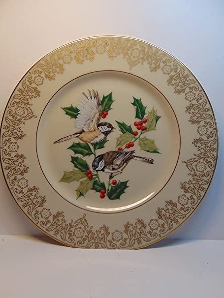 Bird Lenox Garden Plate Collection Chickadee 8 1 2 Decorative Collector S Plate Home Kitchen