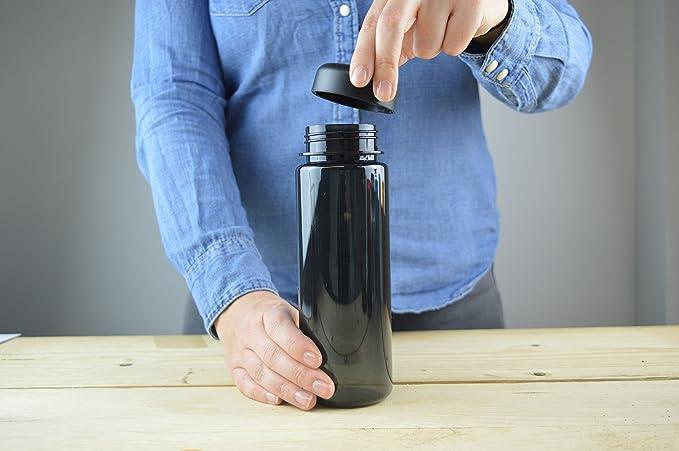 Rivers Drinkware Ríos Vaso Unisex reutilización plástico Viajes Botella de Agua 500 ML, Negro, M: Amazon.es: Deportes y aire libre