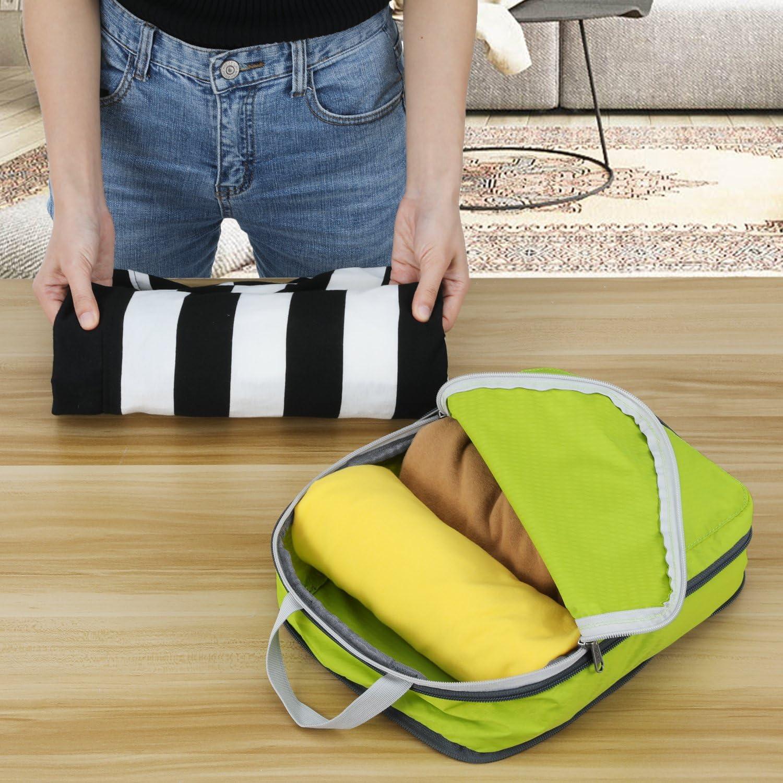 4 Il set peut /également /être utilis/é comme organisateur de sac et de voyage Gonex Sacs /à v/êtements 4-pi/èces Vert