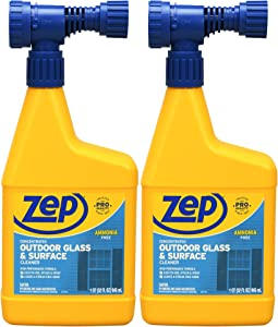 Zep Hose-End Outdoor Cleaner U49910 (Pack of 2) Designed for Outdoor Glass and Surfaces