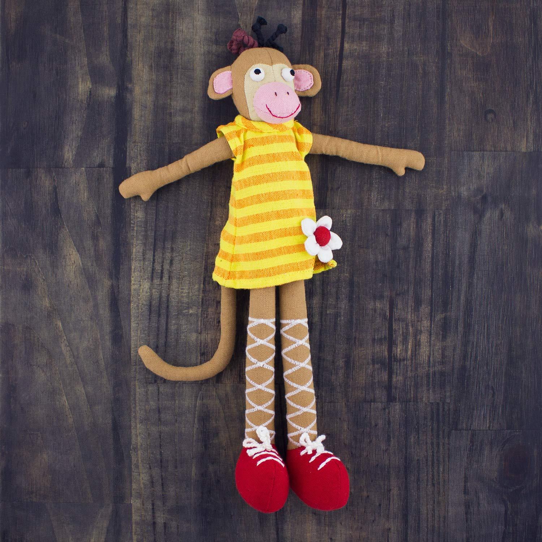 Mr Ellie Pooh Handmade Fair Trade Maya The Monkey Fabric Doll