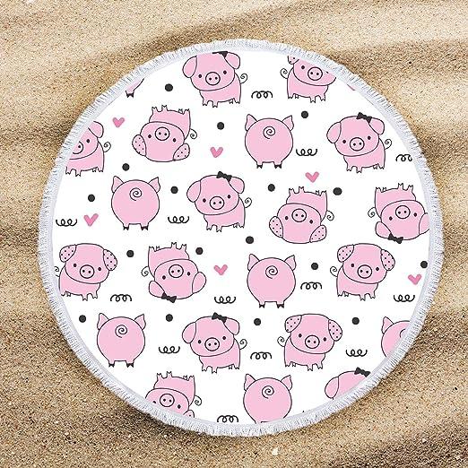 3dRose Lamb Pink Kids Room Decoration Towel 15 x 22