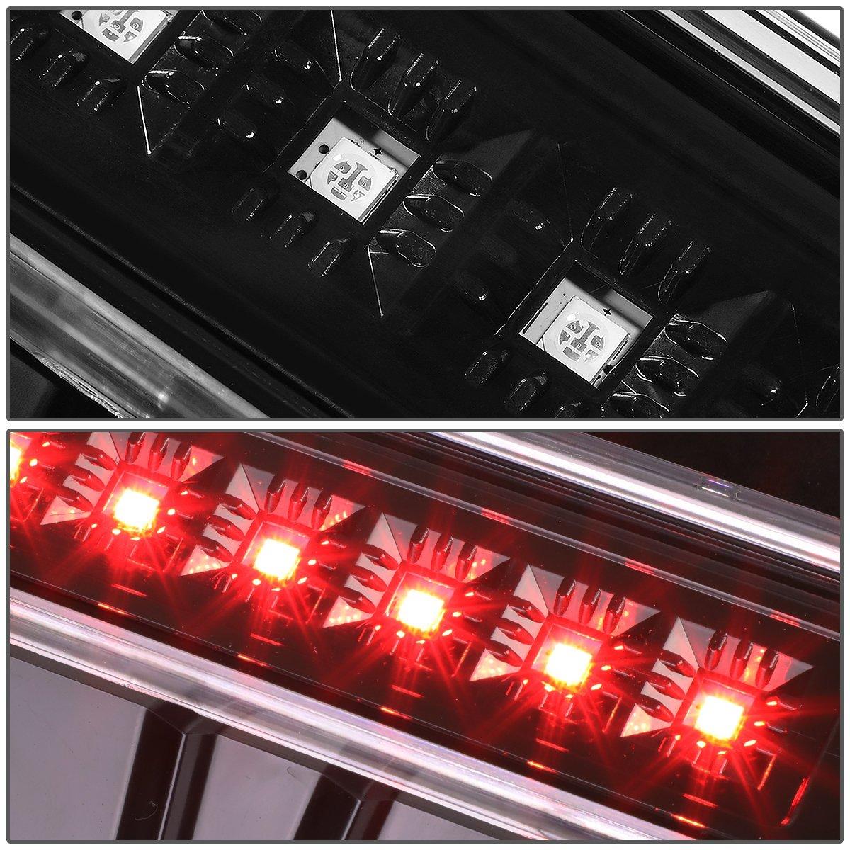 Red Lens For Jeep Wrangler JK LED High Mount Rear 3rd Third Tail Brake Light