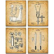 Unframed Poster Wall Art Decor Gift Doctors Medical Set Of 4 Patent Prints