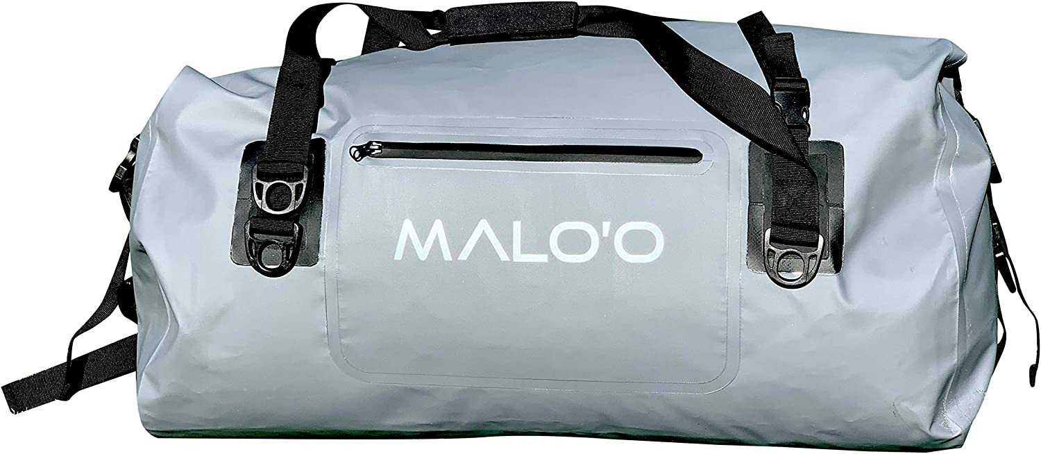 Malo'o Waterproof Duffle Bag - Roll Top Dry Pack with Watertight Seal - Dry Bags For Kayaking, Camping, Beach, Fishing, & Travel Gear - 40L/60L/100L Capacity