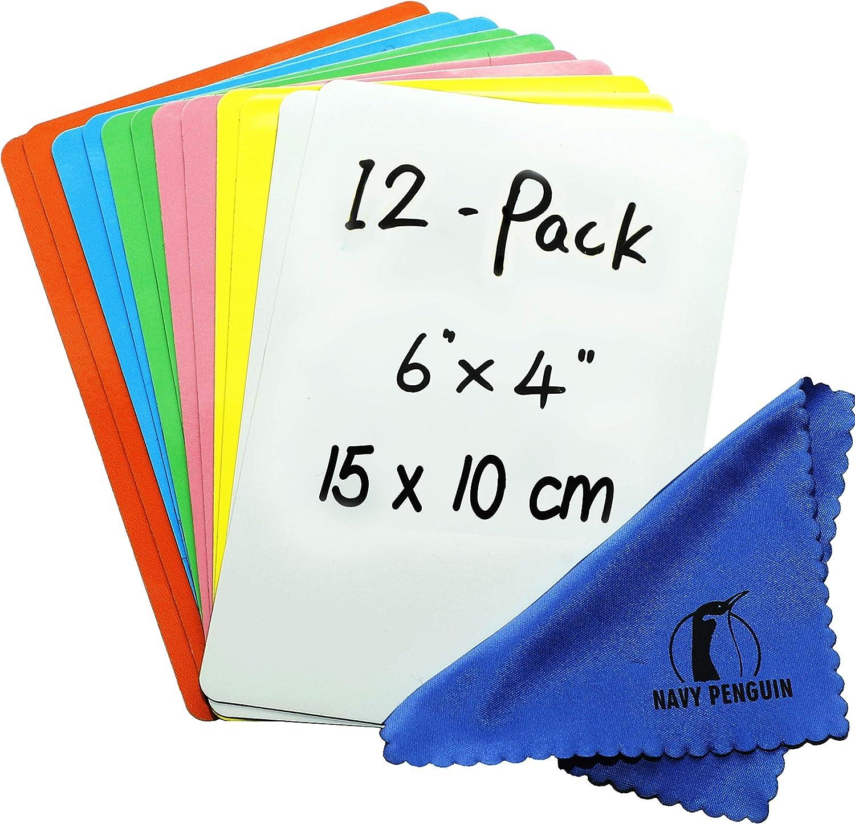 Dry Erase Magnets Set - 12 Pack - 6x4