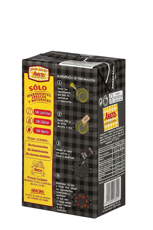 Aneto 100% Natural - Caldo para Arroz Negro - caja de 6 unidades ...