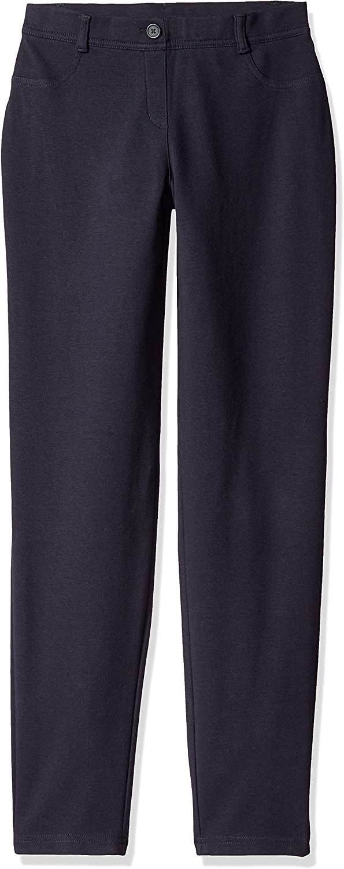 Dockers Little Girls' Uniform Jegging, Navy, 4: Clothing