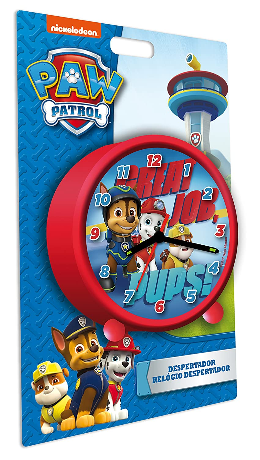 PAW PATROL PawPatrol Reloj Despertador Kids PW16334: Amazon ...