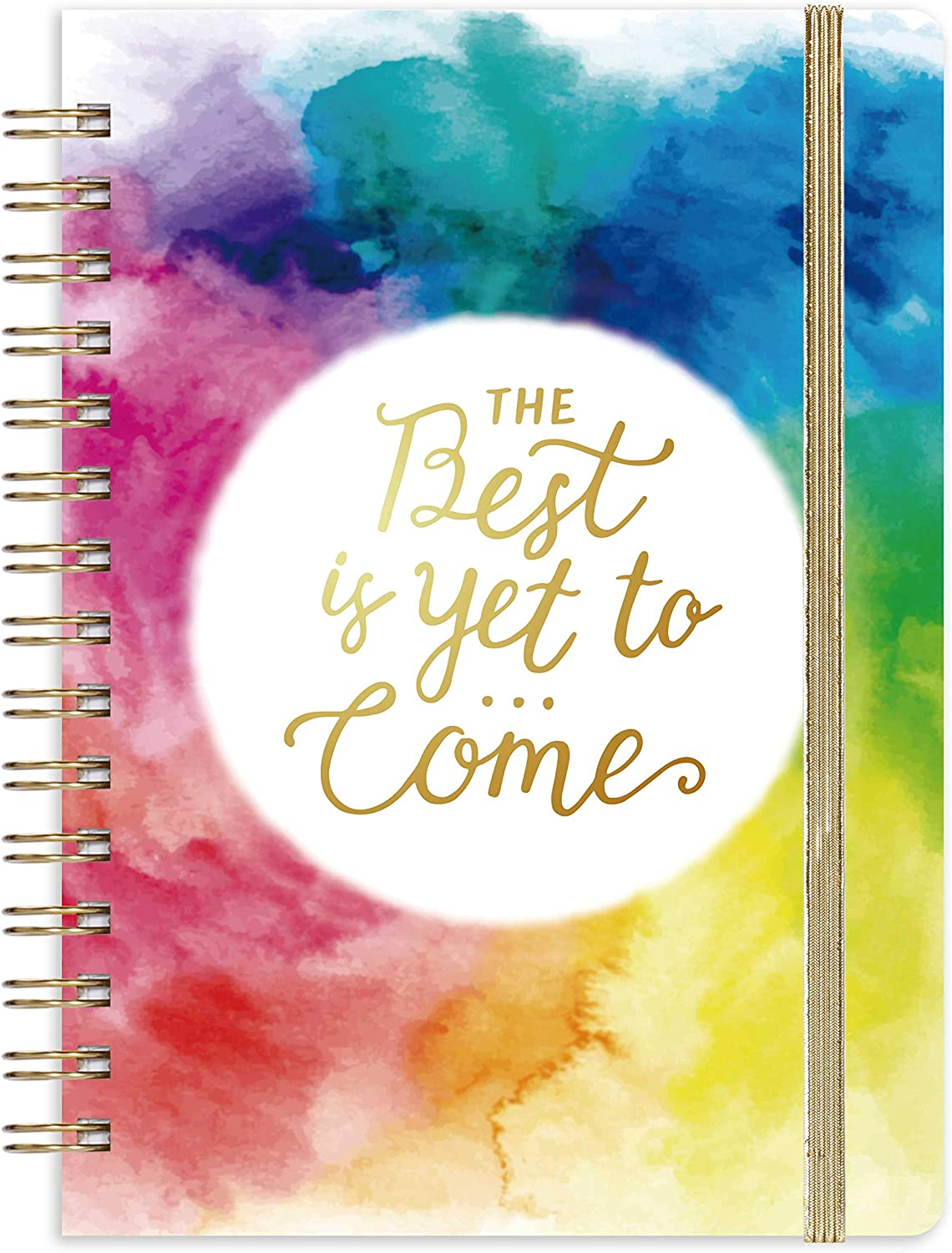 """Journal/Ruled Notebook - Ruled Journal with Premium Thick Paper, 6.4"""" x 8.5"""", Hardcover with Back Pocket + Banded - Watercolor Ink"""