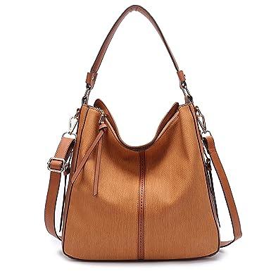 f8c511a5e11 BIG SALE-Hobo Handbags, PU Leather Purses Tote Cross Body Shoulder Bags  Bucket Bag for Women Office