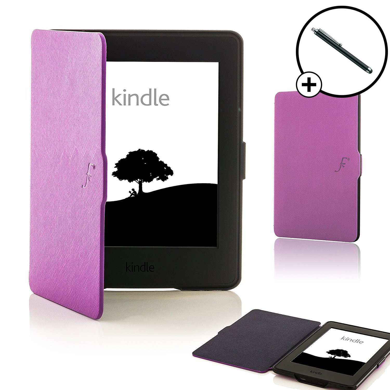 Forefront Cases Kindle Paperwhite 2015 Smart Case Cover Custodia Caso Conchiglia - Ultra Sottile Leggero con Protezione Dispositivo Completa e funzione Auto Sveglia/Sonno + STILO PENNA (ROSA) Forefront Cases®