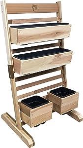 "Gro Products VGS-3248CI-S Vertical Garden Bed, 36"" W X 50"" H X 21"" D, Cedar"