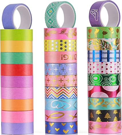 New Fashion Metallic Washi Tape Scrapbooking DIY Paper Masking Sticky Decor