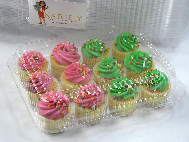 amazon com katgely mini cupcake container for dozen mini cupcakes