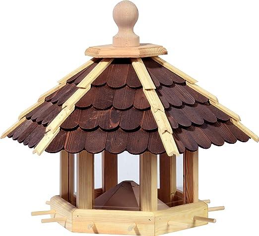 dobar 44136e XXL Casa de pájaros con tolva de Comida, para jardín, terraza o balcón, 55 x 62 x 43 cm, Madera de Pino: Amazon.es: Productos para mascotas