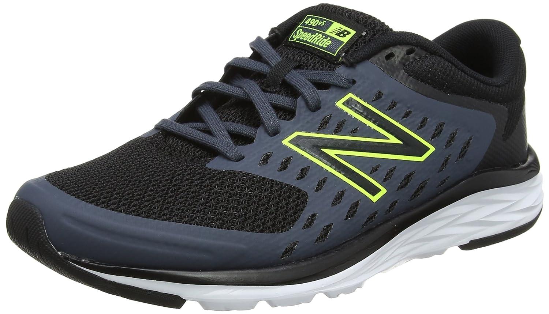 New Balance M490v5, Zapatillas de Running para Hombre 45 EU Negro (Black/Grey)