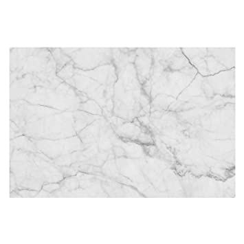Bilderwelten Vliestapete Marmor Optik Weiss Grau   Bianco Carrara    Fototapete Breit Vlies Tapete Wandtapete Wandbild