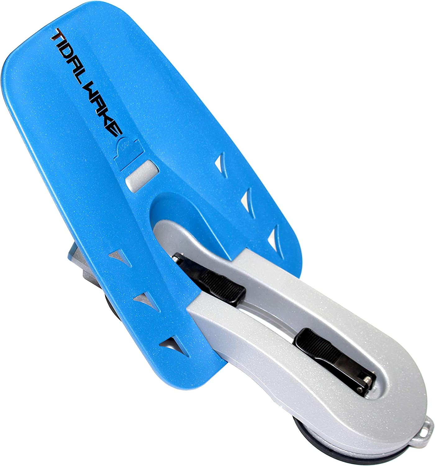Tidal Wake XLR8 Wake Surf Shaper Wave Generator for inboard, Forward & V-Drive Boats | Floating Wakesurf Creator | Compact Storage (Silver/Blue)