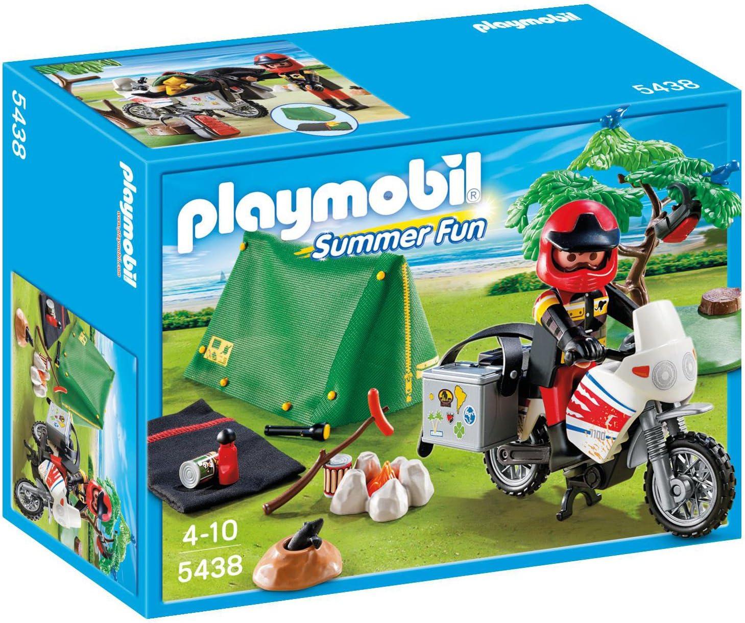 PLAYMOBIL Vacaciones - Motorista con Tienda de campaña (5438 ...