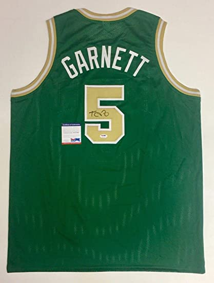 5f74c2fd0 Image Unavailable. Image not available for. Color  Signed Kevin Garnett  Jersey - ITP COA  8A31139 - PSA DNA Certified - Autographed