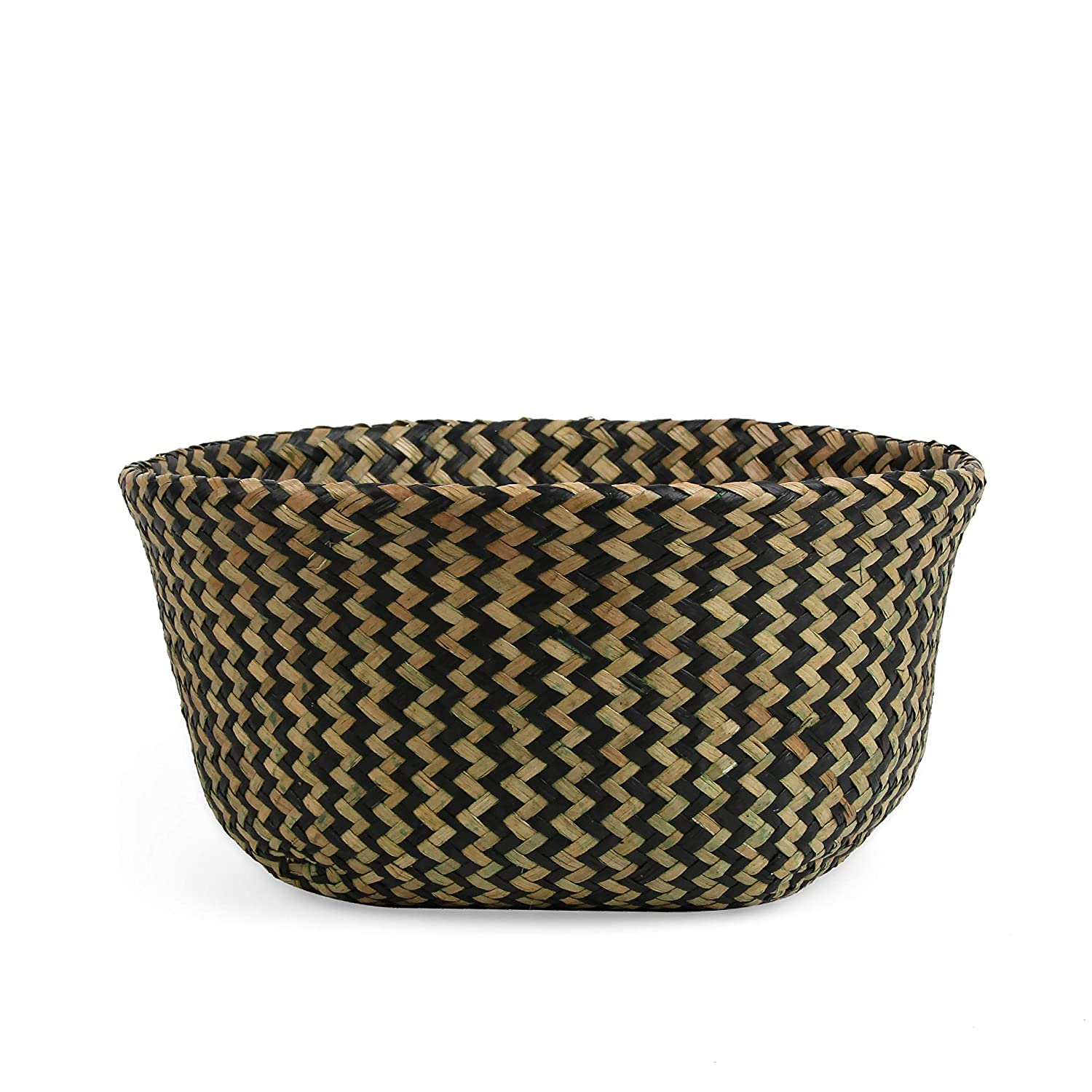 Picnic and Grocery Basket BlueMake Woven Seagrass Belly Basket for Storage Plant Pot Basket and Laundry Small, Original