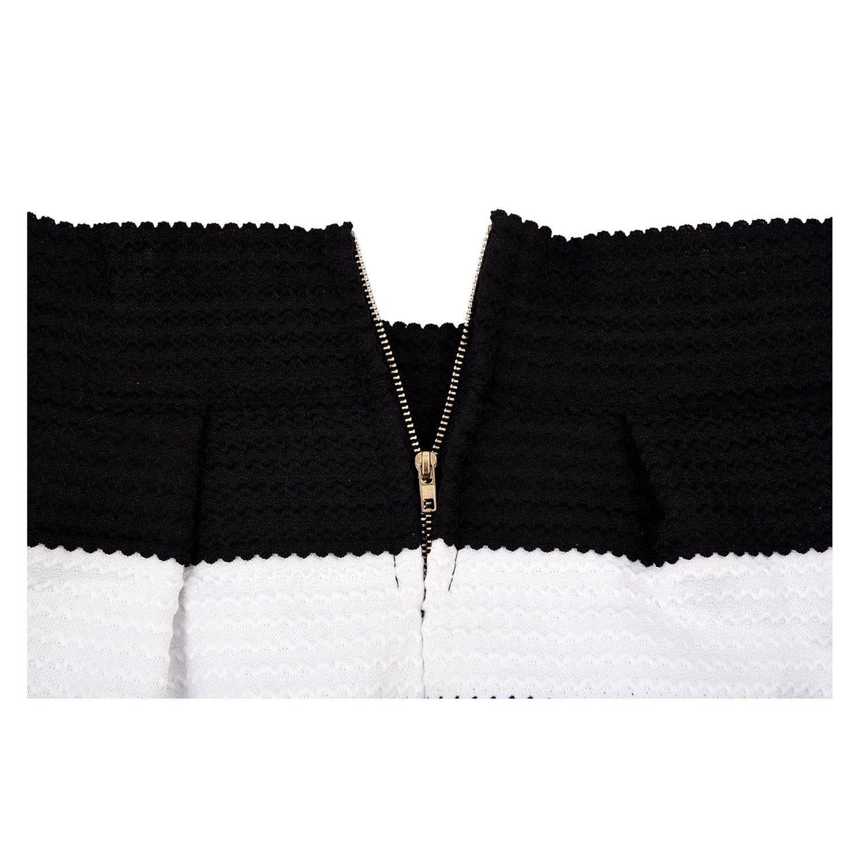 00bbd03db SODIAL(R) Falda a Rayas Negra Blanca Cebra para Mujer Vintage ...