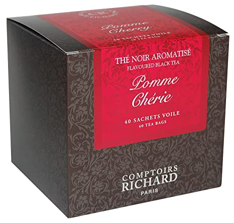 Amazoncom Comptoirs Richard Apple Cherry Black Tea Pomme Chérie