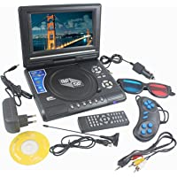 THEBOX DVD Player Portable 9.8 3D EVD with USB Playback TFT Swivel Flip Screen Game + MP3 + Card Reader Support + 3D Support