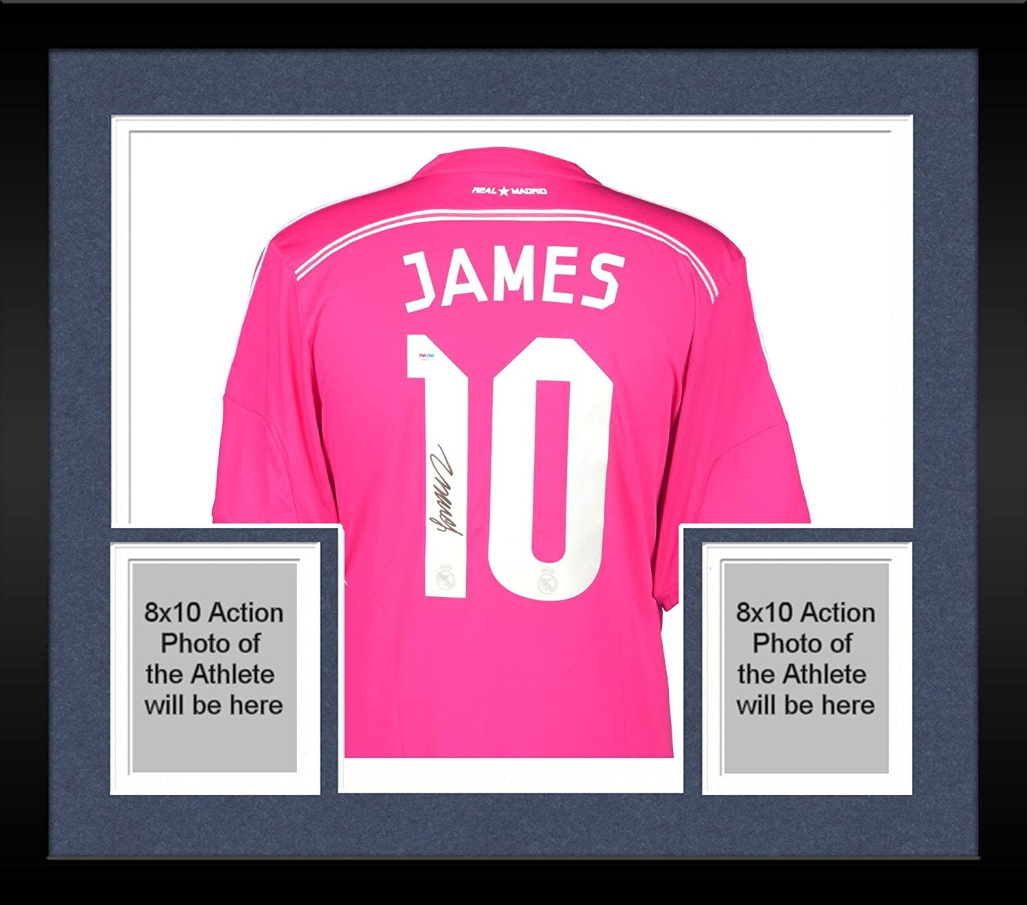 1ea8dfcd4 Framed James Rodriguez Real Madrid Autographed Pink Jersey - Fanatics  Authentic Certified - Autographed Soccer Jerseys at Amazon s Sports  Collectibles Store