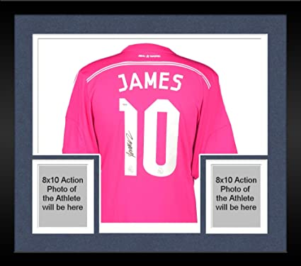 3f08c9b7409 Framed James Rodriguez Real Madrid Autographed Pink Jersey - Fanatics  Authentic Certified - Autographed Soccer Jerseys at Amazon's Sports  Collectibles Store