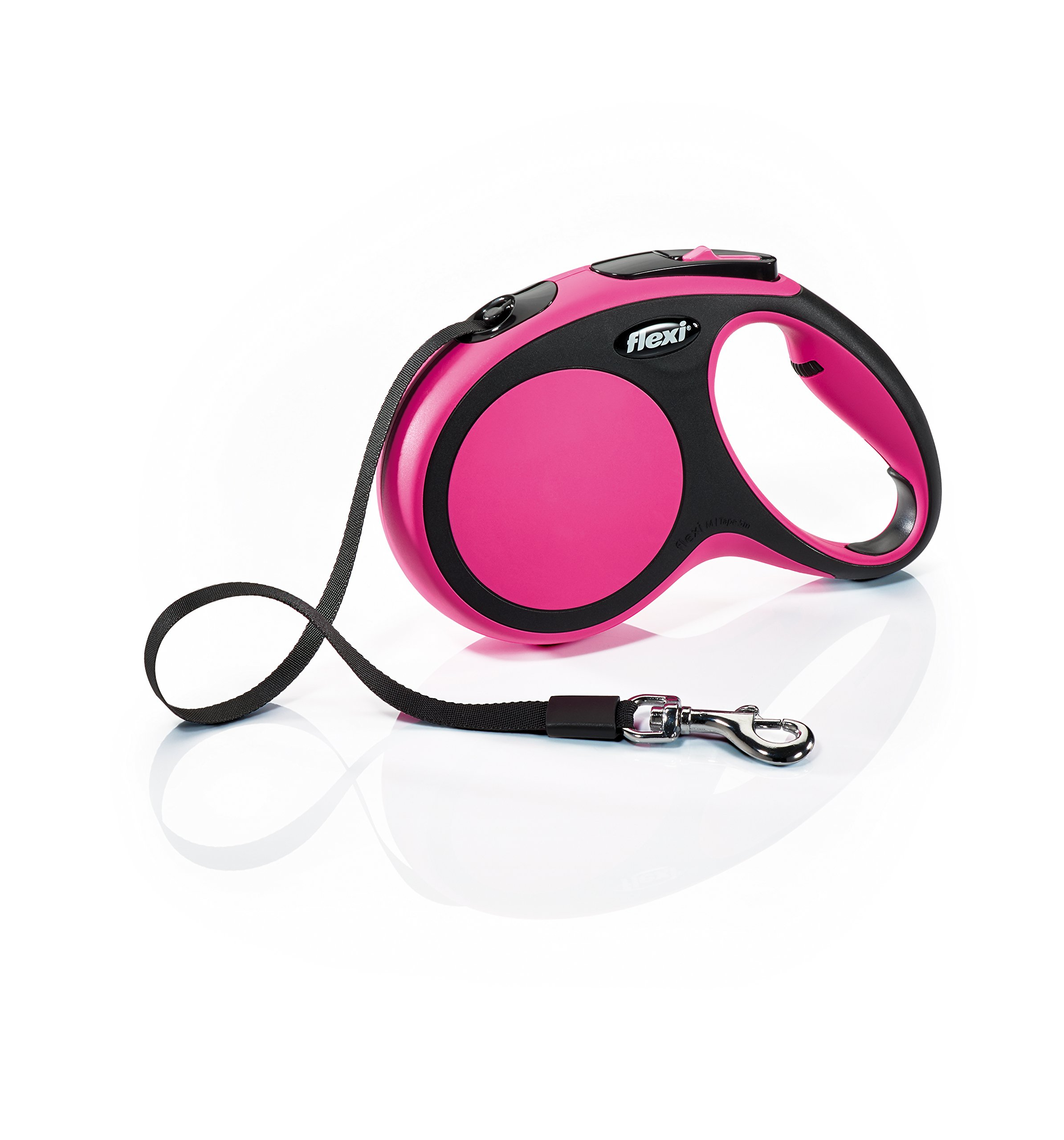 Flexi New Comfort Retractable Dog Leash (Tape), 16 ft, Medium, Pink by Flexi (Image #1)