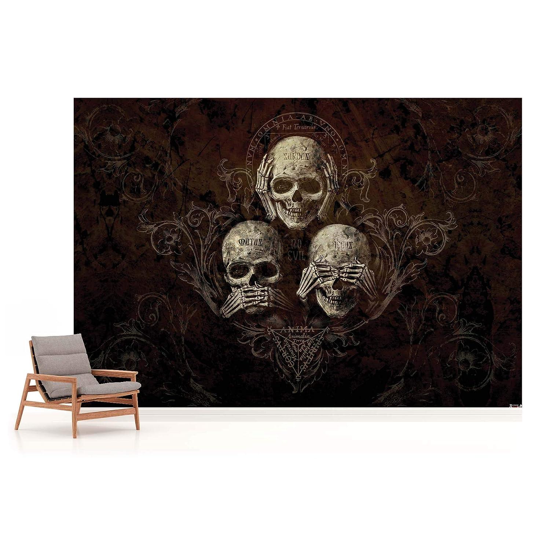 Nicht Hören Sehen Sehen Sehen Totenkopf Alchemy - Wallsticker Warehouse - Fototapete - Tapete - Fotomural - Mural Wandbild - (978WM) - XXXL - 416cm x 254cm - VLIES (EasyInstall) - 4 Pieces B01KLTHQ2E Wandtattoos & Wandbilder 63301b