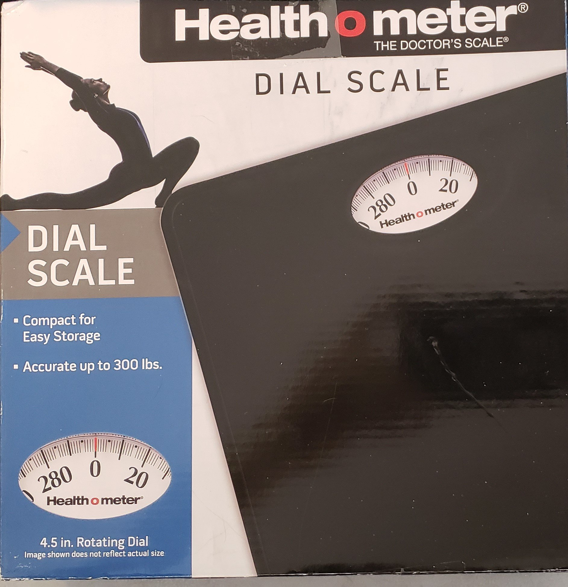 Health O Meter Dial Scale, Black