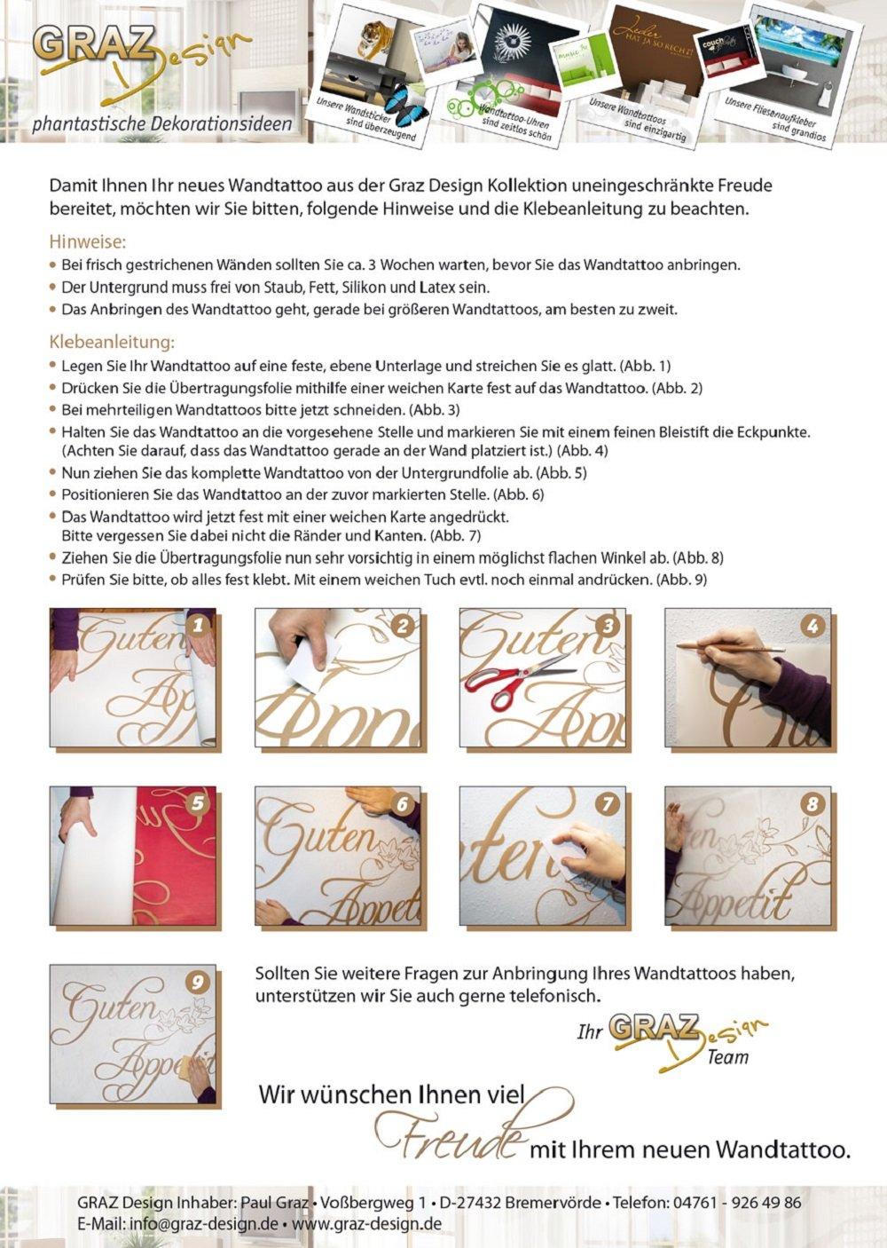 Anspruchsvoll Wandtattoo Anbringen Dekoration Von Grazdesign 720301_30_074 Name Für Flur Wandspruch Willkommen