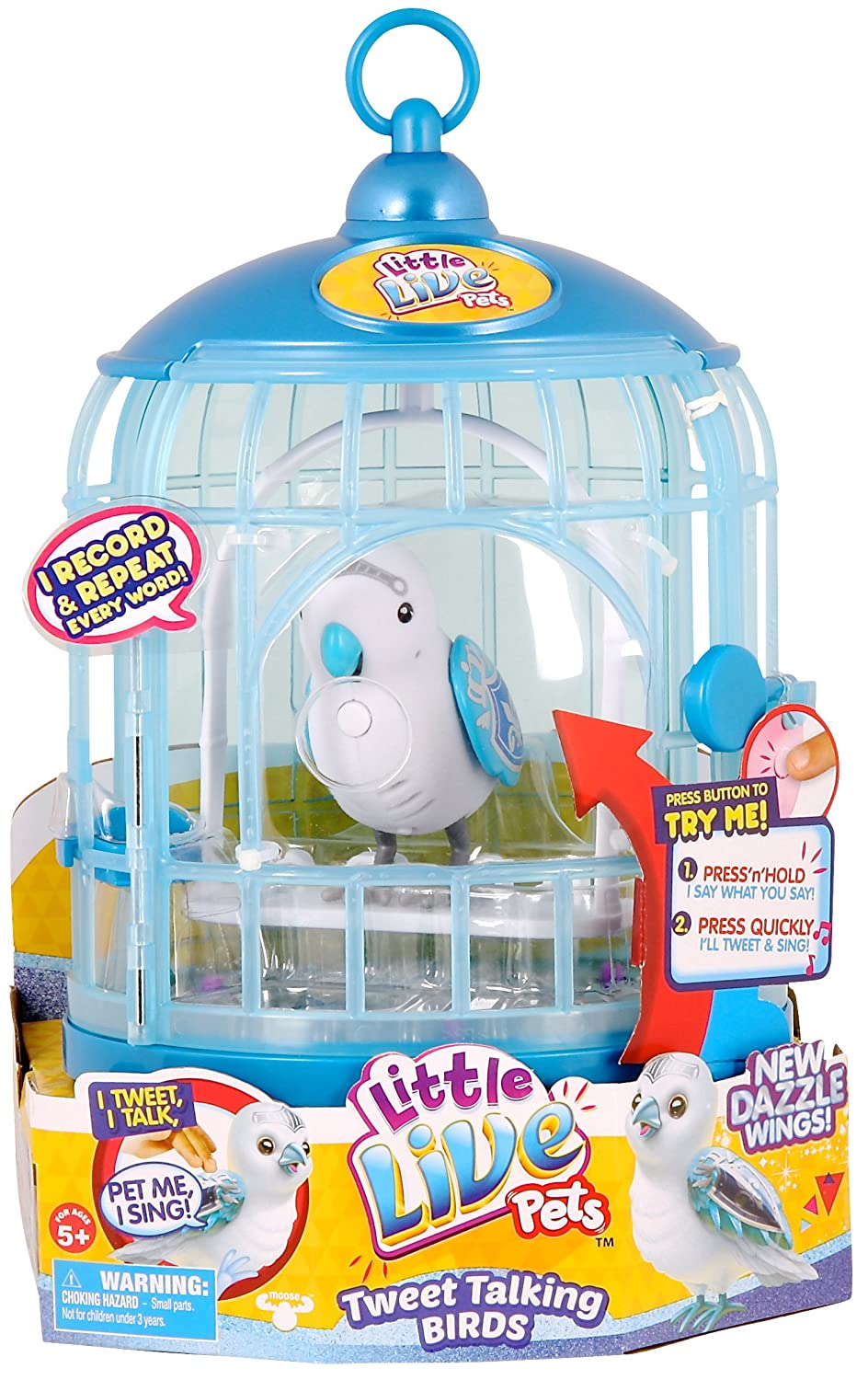 Little Live Pets Bird with Cage [Blue]
