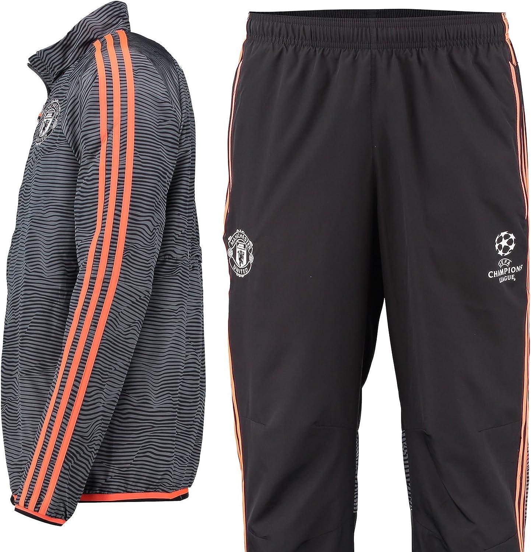 adidas MUFC EU Presuit - Chándal para Hombre, Color Negro/Blanco ...