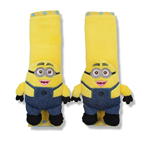 Finex Minion Car Seat Belt Sets Cover Set Of 2